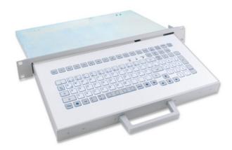 Tastiera e cassetto rack